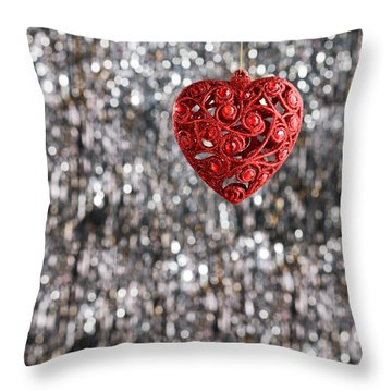 Throw Pillow featuring the photograph Red Heart by Ulrich Schade