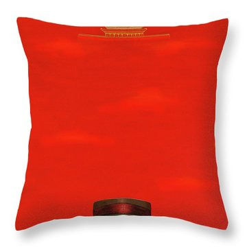 Red Impression Throw Pillow
