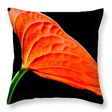red Lily blossom Throw Pillow