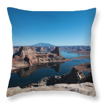 Red Rocks Drifting In Lake Powell Throw Pillow
