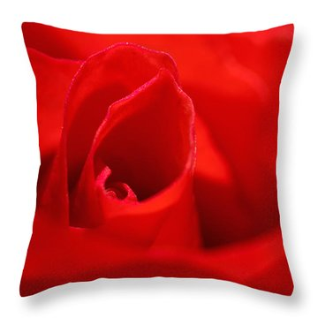 Red Rose Throw Pillow by Svetlana Sewell