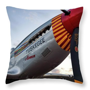 Red Tail At Dusk - 2017 Christopher Buff, Www.aviationbuff.com Throw Pillow