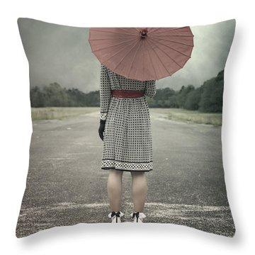 Umbrellas Throw Pillows