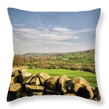 Reeth Views Throw Pillow