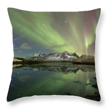 Reflected Lights Throw Pillow