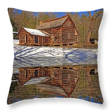 Throw Pillow featuring the photograph Reflections by Geraldine DeBoer