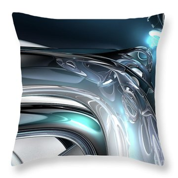 Reflections Of Blue Throw Pillow