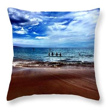 Relax Throw Pillow by Michael Albright