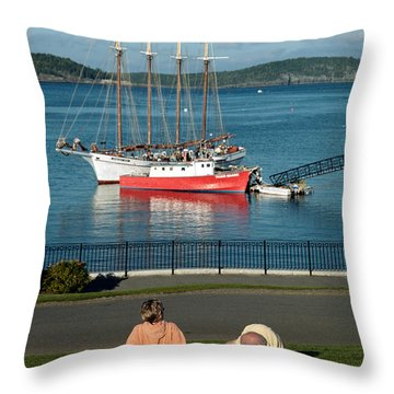 Relaxing On The Coast Throw Pillow