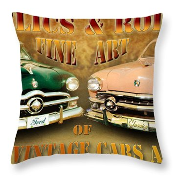Relics And Rods Throw Pillow