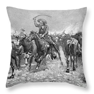 Remington: Cowboys, 1888 Throw Pillow by Granger
