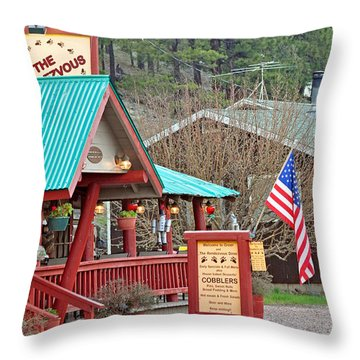 Throw Pillow featuring the photograph Rendezvous Diner by Juls Adams