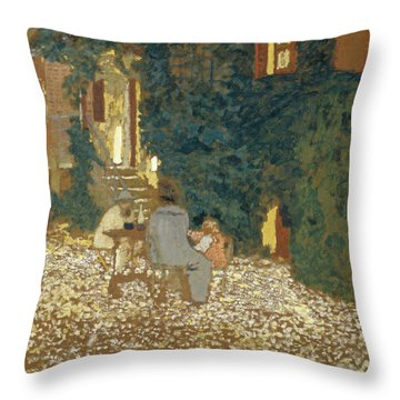 Repast In A Garden Throw Pillow