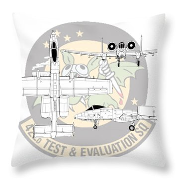 Throw Pillow featuring the digital art Republic A-10 Thunderbolt II by Arthur Eggers