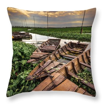 Rest Of Boat Throw Pillow