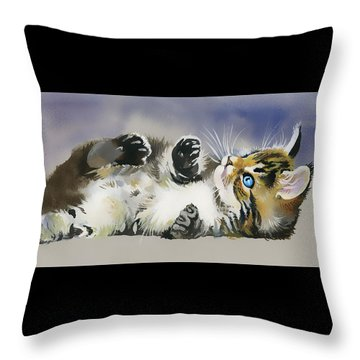 Resting In The Lord Throw Pillow by Karen Showell