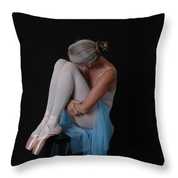 Throw Pillow featuring the photograph Resting Stretch by Nancy Taylor