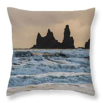 Reynisdrangar Throw Pillow