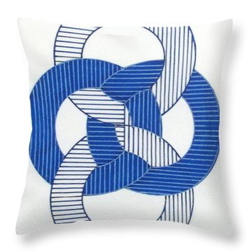 Throw Pillow featuring the drawing Rfb1009 by Robert F Battles