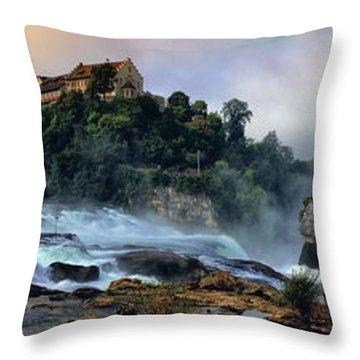 Rhinefalls, Switzerland Throw Pillow by Elenarts - Elena Duvernay photo