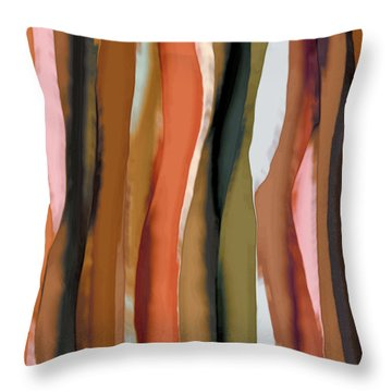 Throw Pillow featuring the painting Ribbons by Bonnie Bruno