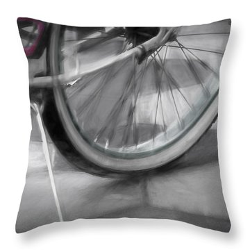Ride With Me Throw Pillow by Carolyn Marshall