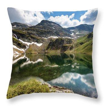 Rila Mountain Throw Pillow by Evgeni Dinev