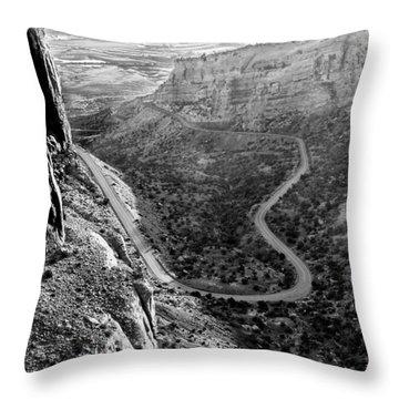Rim Rock Drive Throw Pillow