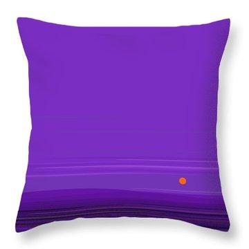 Ripple -twilight Purple Throw Pillow