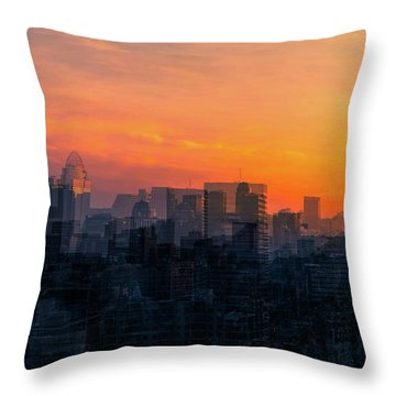 River City Throw Pillow by Cathy Donohoue