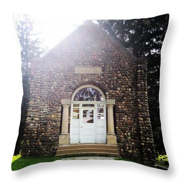 Riverside Cemetery Chapel Throw Pillow