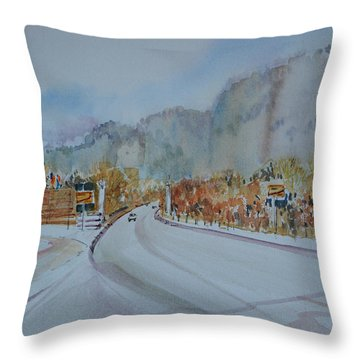 Road To Bavaria Throw Pillow