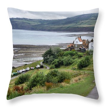 Robin Hood's Bay Throw Pillow