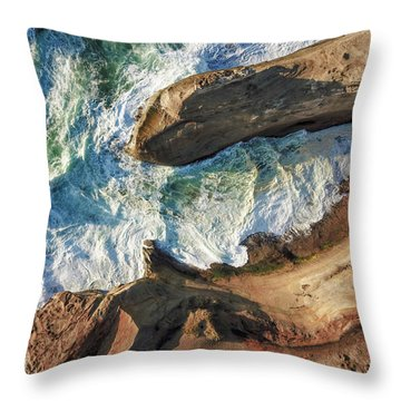 Rocks And Waves Throw Pillow
