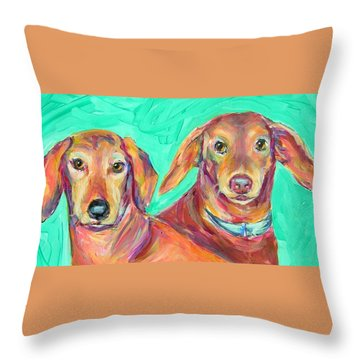 Rocky And Hershey Throw Pillow