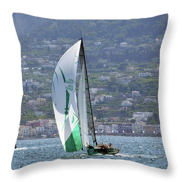 Rolex Capri Sailing Week 2014 Throw Pillow
