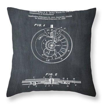 Rolex Watch Patent 1999 In Chalk Throw Pillow