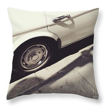Throw Pillow featuring the photograph Rolls Royce Baby by Rebecca Harman