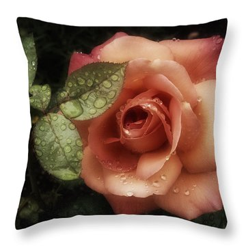 Romancing The Rose Throw Pillow by Richard Cummings