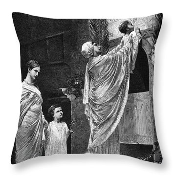 Rome: Christian Widow Throw Pillow by Granger