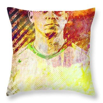 Ronaldo Throw Pillow by Svelby Art