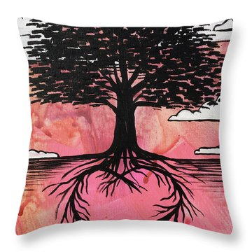 Throw Pillow featuring the painting Rooted In Love by Nathan Rhoads