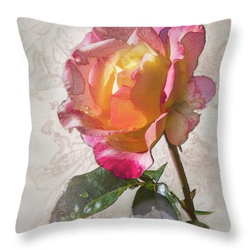 Rosa, 'glowing Peace' Throw Pillow