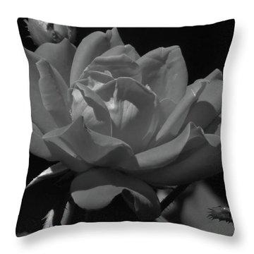 Rosey Bloom Throw Pillow
