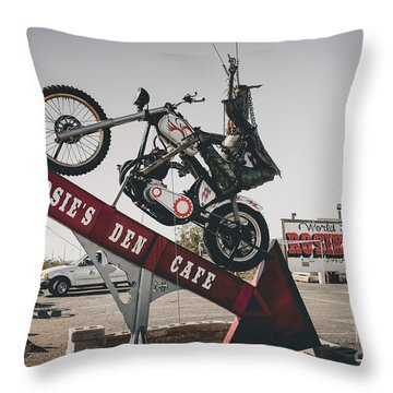 Rosies Den Cafe Throw Pillow