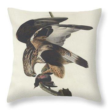 Rough Legged Falcon Throw Pillow by Anton Oreshkin