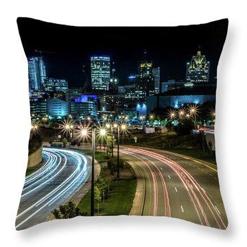 Round The Bend Throw Pillow by Randy Scherkenbach