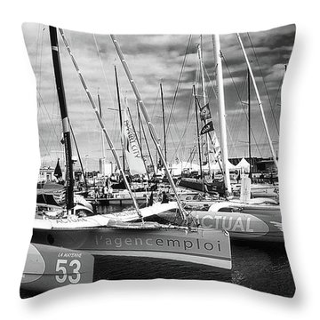 Throw Pillow featuring the photograph Route Du Rhum Ready by Elf Evans