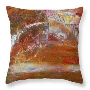Rusty Rainbow Throw Pillow