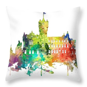 Rutherglen Scotland Skyline Throw Pillow
